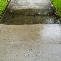 Sidewalk Before and After --- Original Photo Credit: Pressure washing the sidewalk by Brian Hart (http://flic.kr/p/8ftKBB/)