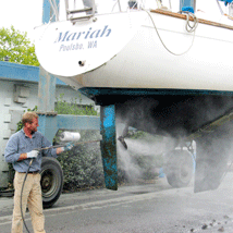 Pressure Washing a Boat --- Original Photo Credit: Washing the Rudder by Paul Schultz (http://flic.kr/p/ofMMi/)